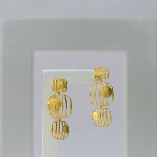 Trio Striped Earrings - Ssoul Eternal You