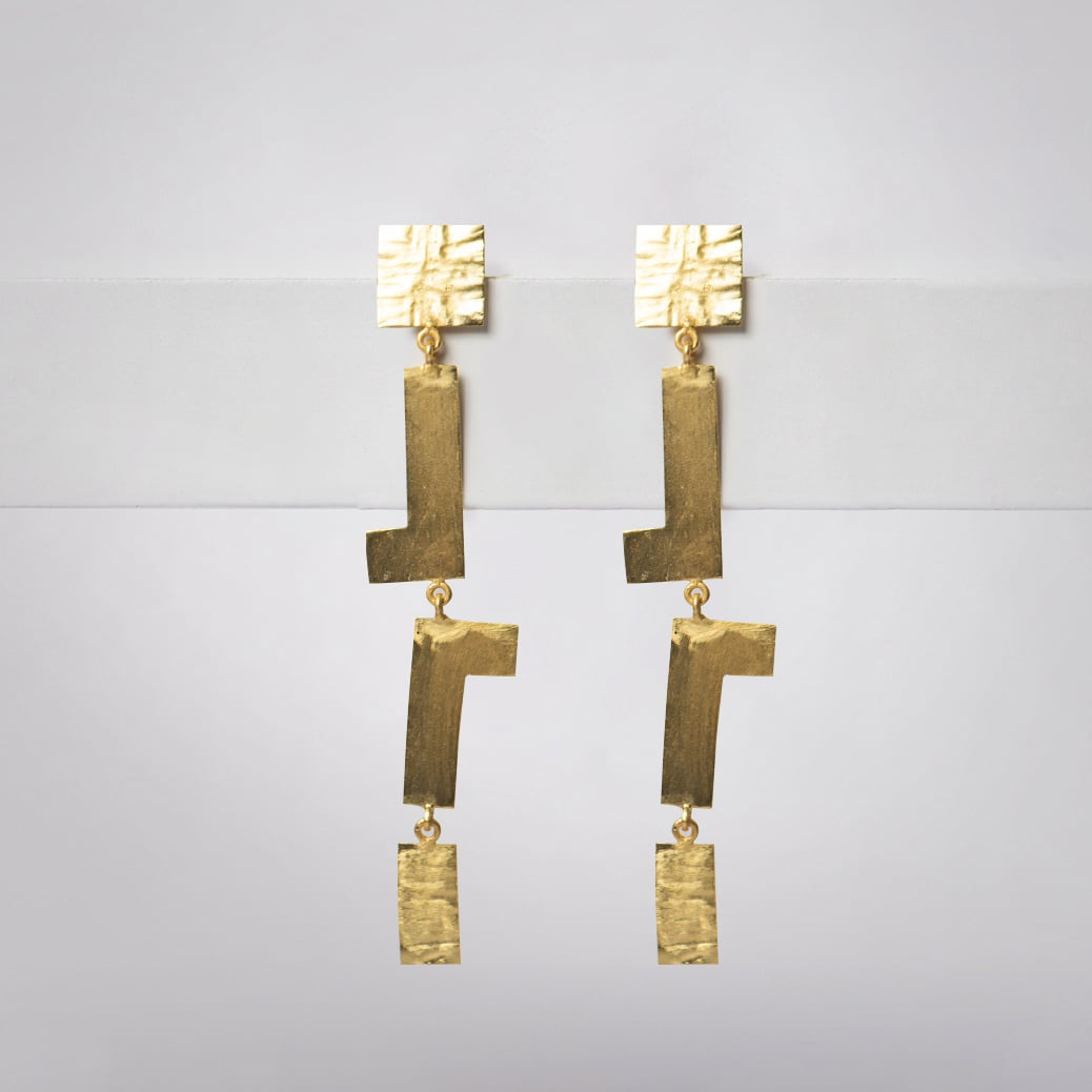 Upside Down L Earrings - Ssoul Eternal You
