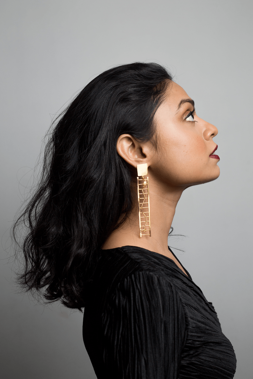 Ladder Viel Earrings - Ssoul Eternal You