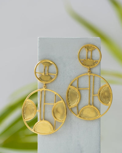 Circular Disk Earrings - Ssoul Eternal You