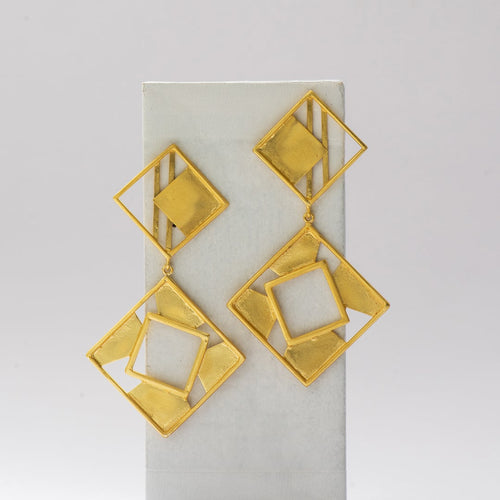 Square Cutout Earrings - Ssoul Eternal You