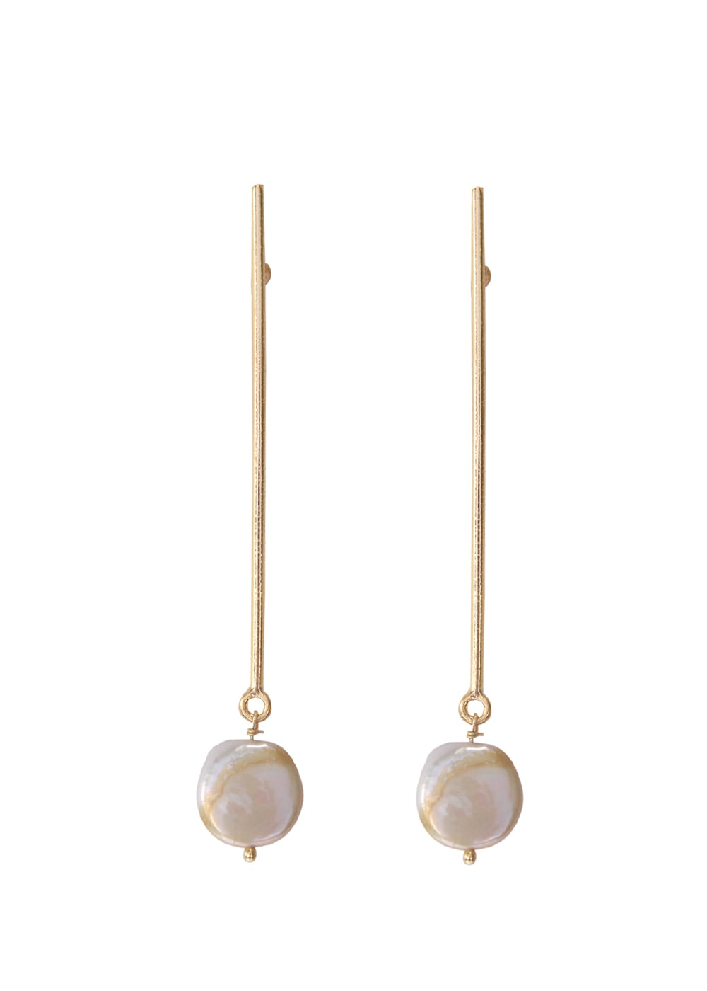 Line Baroque Drop Earrings - Ssoul Eternal You