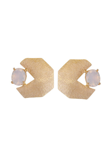 Moonstone Geometric Earrings - Ssoul Eternal You
