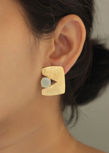 Textured Cut-Out Square & Stud Earrings - Ssoul Eternal You