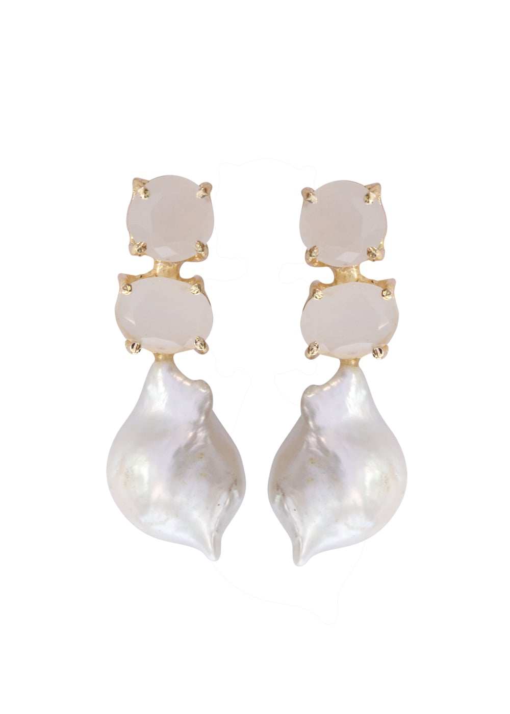 Baroque Stud Drop Earrings - Ssoul Eternal You