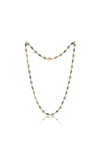 Marquee Cut Necklace in Shades of Blue - Ssoul Eternal You