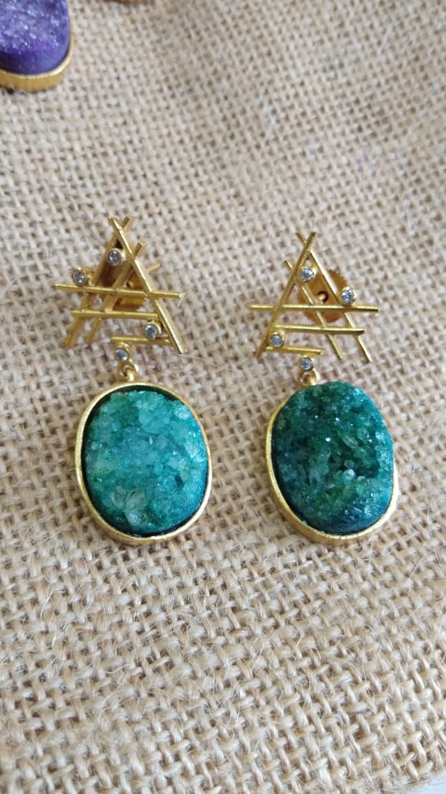 Sugar Druzy Earring - Ssoul Eternal You