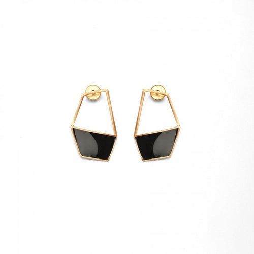 Enamel Geo Earring - Ssoul Eternal You