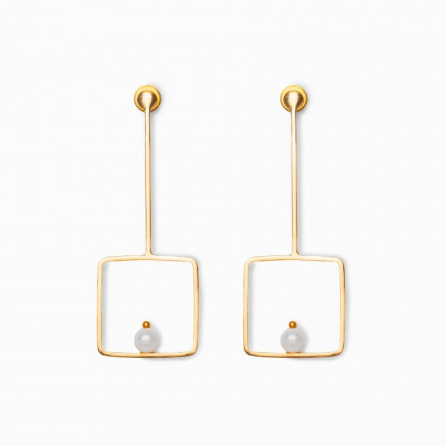 Pearl Square Earring - Ssoul Eternal You