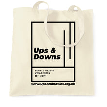 Load image into Gallery viewer, Ups & Downs Tote Bag