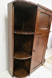 Antique English Secretary Desk With Side by Side Open Face Bookcases