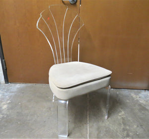 mid century lucite chair