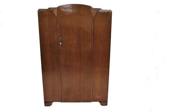 Vintage English Lebus Furniture Oak Armoire or Wardrobe