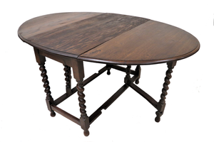 barley twist drop leaf table