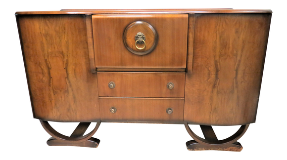 English Art Deco Cocktail Bar, Cabinet or Sideboard