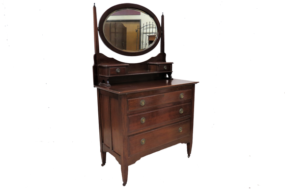 mahogany dressing chest