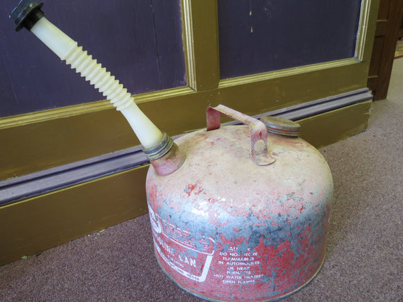 Brookins Galvanized Gasoline Can