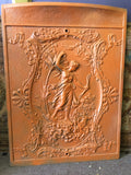 Antique Cast Iron Stove Cover Or Fire Screen