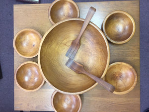 Woodcraftery Wooden Salad Bowl Set