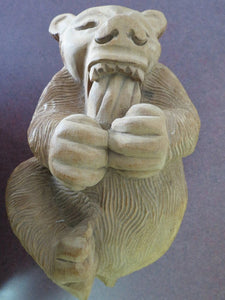 Arthur Court Carved Wood Bear Folk Art