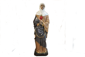 french sacred heart madonna statue