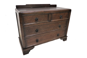 tiger oak chest of drawers