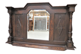 antique mantle mirror