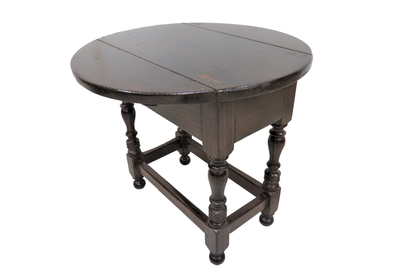 antique chairside table