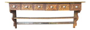 Antique Country French Wall Shelf, Spice and Herb Rack