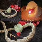Dragon egg candle