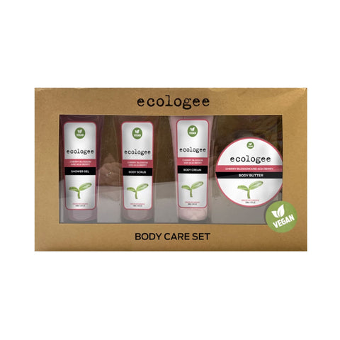 ECOLOGEE Vegan Body Care Set - Cherry Blossom and Acai Berry