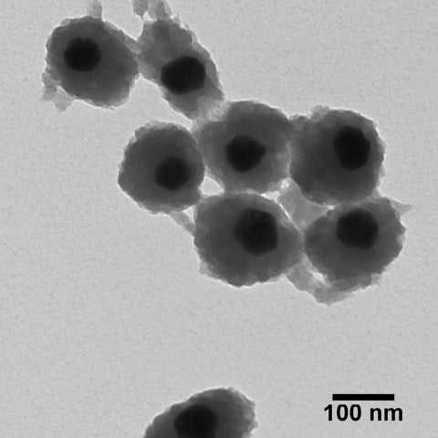 Ag nanospheres with amorphous titania shells