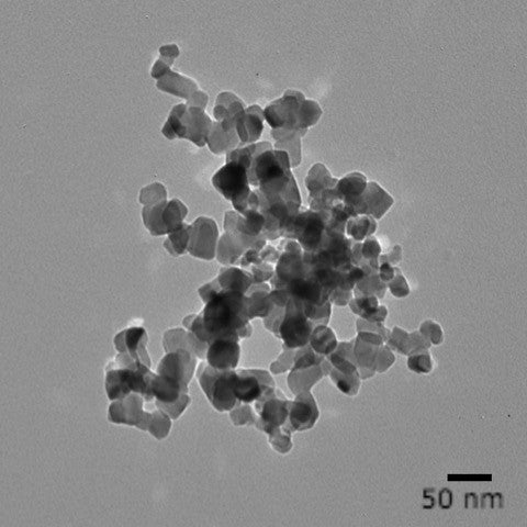 25 nm crystalline titania nanoparticles with a polyvinylpyrrolidone (PVP) surface