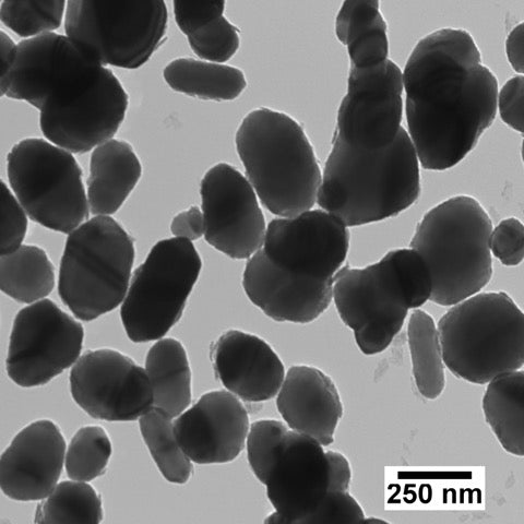 230 nm crystalline titania nanospheres with a polyethylene glycol (PEG) surface