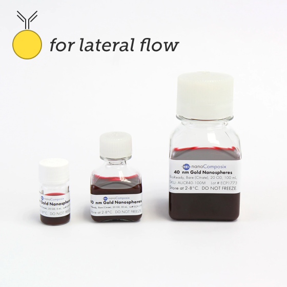 For lateral flow