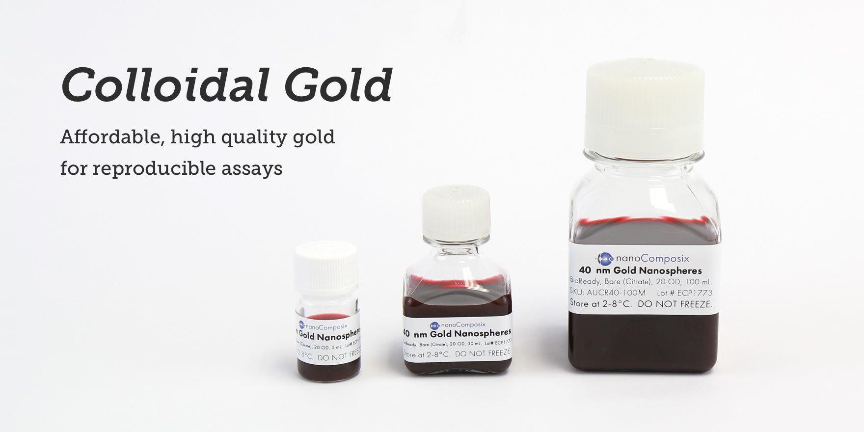 Colloidal gold – affordable, high quality gold for reproducible assays