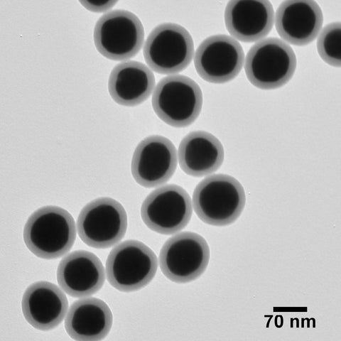 Silica Shelled 70 nm Gold Nanospheres