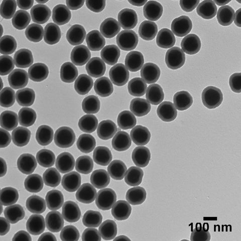 Silica Shelled 100 nm Silver Nanospheres