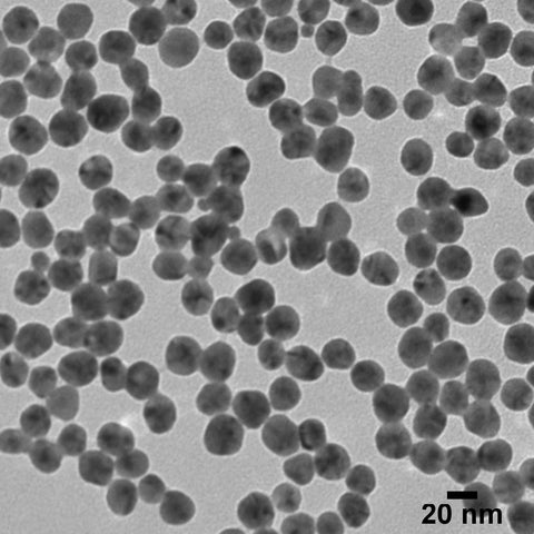 20 nm Silver Shelled Gold Nanospheres