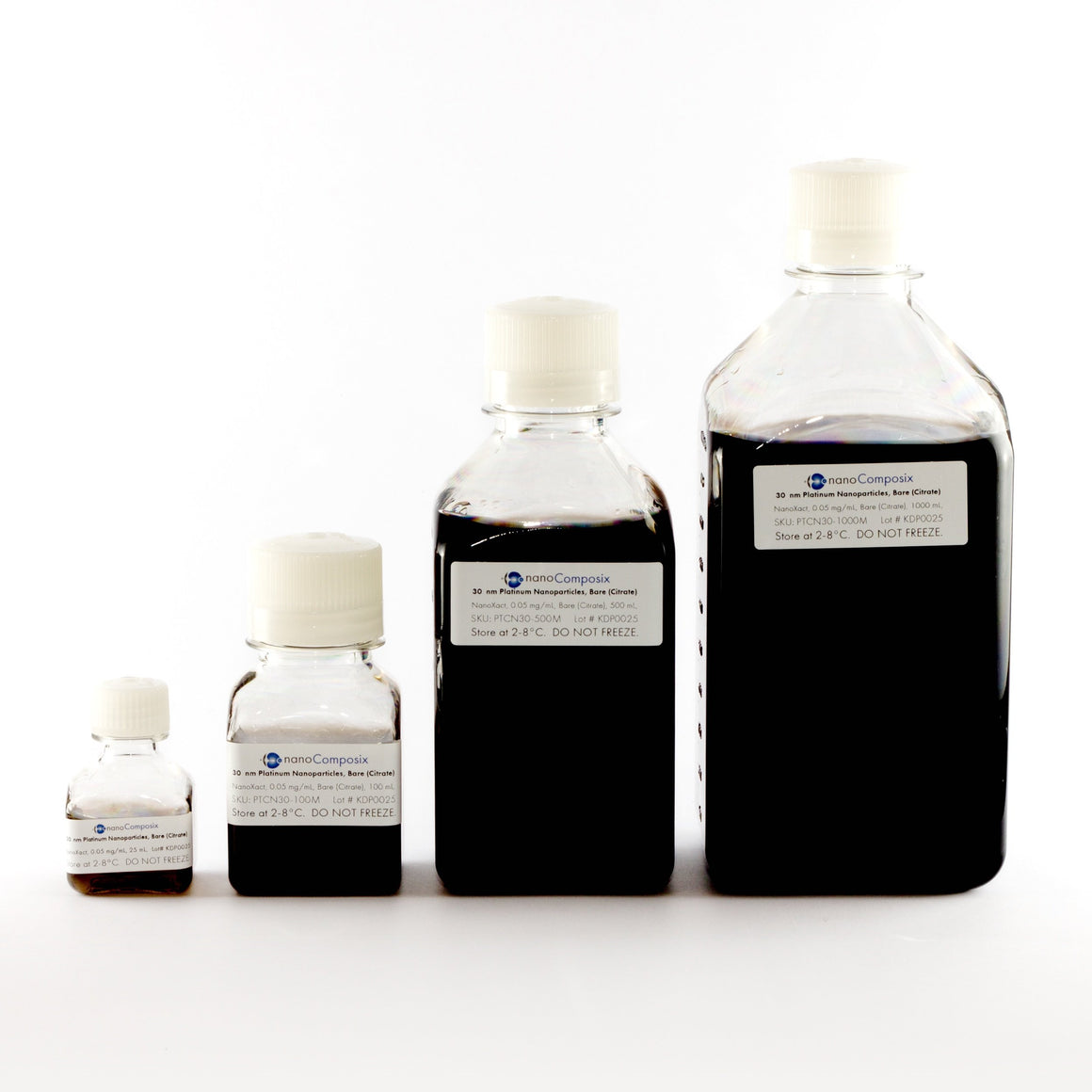 NanoXact Platinum Nanoparticles – Bare (Citrate)