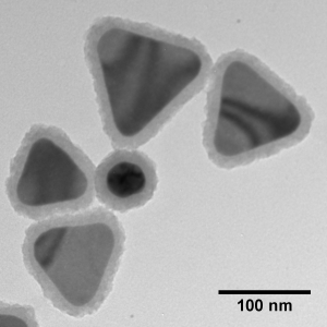 Silica Shelled Silver Nanoplates, Peak Absorbance @ 950 nm