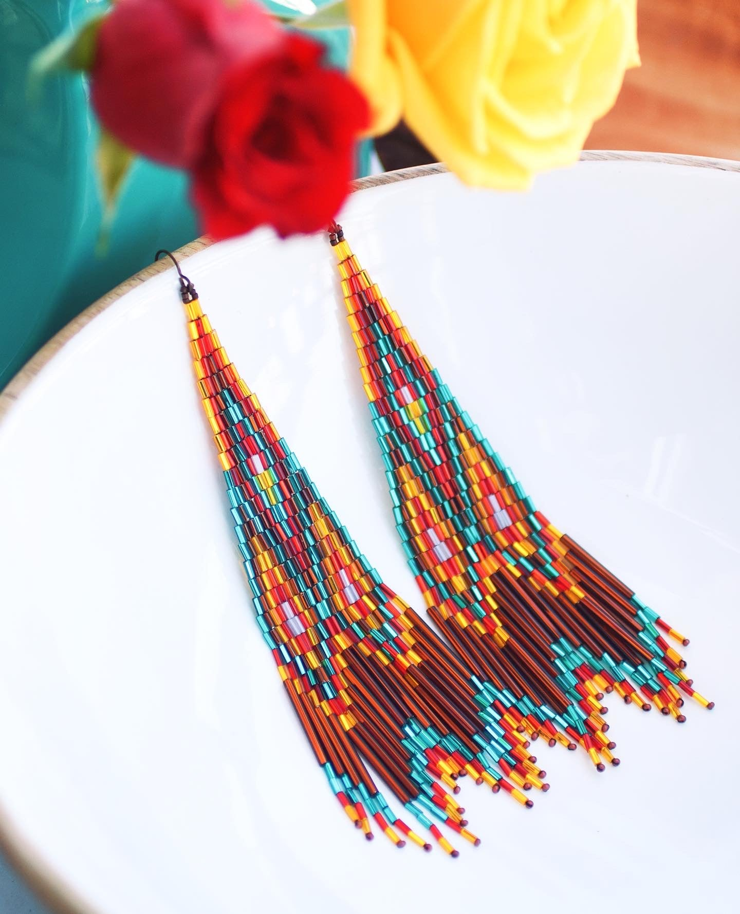 The Loretto Sisters beaded earrings