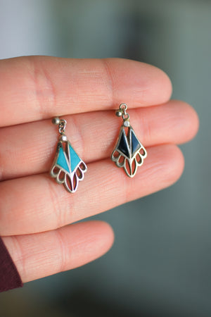 Reserved for Essence - Single Turquoise fringe earring