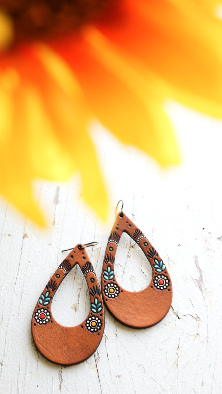 Wildflower Leather Earrings