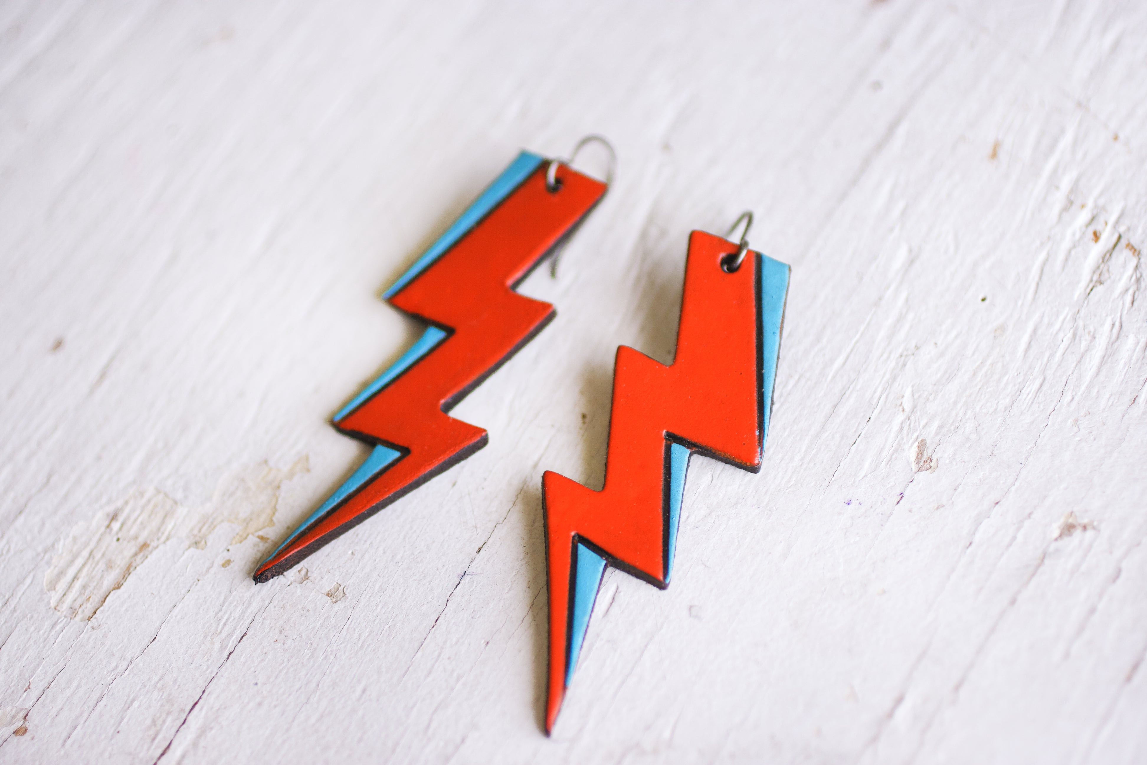 Reserved for Danielle - Ziggy Stardust Bolt Earrings