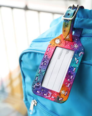 Galaxy Luggage Tag - Tie-Dye Colors