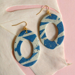 TRIXIE EARRINGS // TERRAZZO