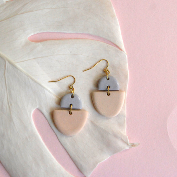 CECELIA EARRINGS // TWO TONE