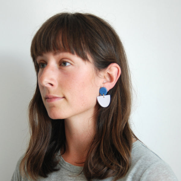 RAPHAËLE EARRINGS // TWO TONE