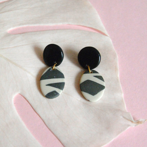 EZZA EARRINGS // TERRAZZO